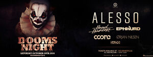 Dooms night ticket !! Alesso tier 3