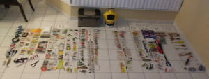 FISHING LURES LINES TACKLES BOX MINNOW BUCKET & MORE.