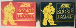 90-91 and 91-92 Score Hockey Rookie and Traded Sets