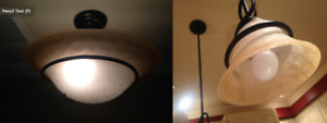 Ceiling Light Fixture + 2 Pendant Lights