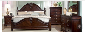 BEAUTIFUL BEDROOM SET WITH MATTRESS IN PERFECTLY GOOD CONDITION
