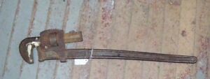 Rare  Walworth Mfg Co Boston Mass. Stillson Antique Wrench