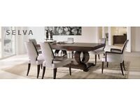 SELVA DINING TABLE WITH 8 CHAIRS