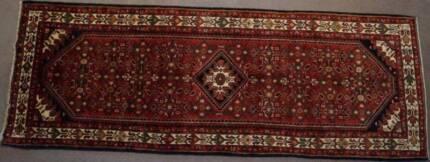 Hamedan Persian Rug Hand Knotted Runner-115x310 cm Handmade