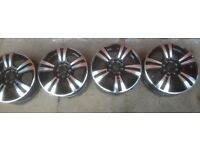 15'' alloy wheels multi fit diamond cut
