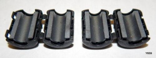 2 QTY Black Sleeve Ferrite Clamps 9mm I.D. RFC-9-A