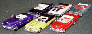 Set of 6 classic convertibles in 1/48 scale
