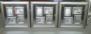 CELENE 23 1/2 inch frames with 4-4x6 frames. Antique Silver.  Ne