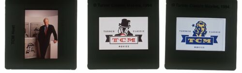 ROBERT OSBORNE TURNER CLASSIC MOVIES TCM LOGO Set 3 Color Slides Transparencies