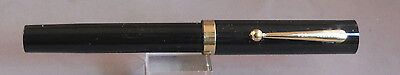 "Sheaffer No-nonsense Black with gold trim ball pen--""Vintage""---new refill"