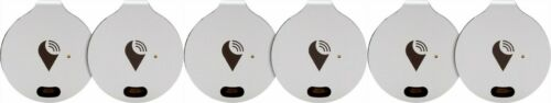 TrackR Bravo 6-Pack Item Tracker Silver GPS Bluetooth Find Keys, Phone, Wallet.