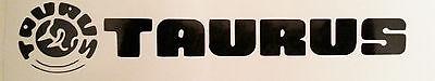 Taurus Logo High Gloss Black Vinyl Die Cut Gun Sticker