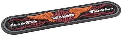 Harley-Davidson Winged Bar & Shield Rubber Beverage Bar Mat, Black HDL-18566 for sale  Hudson