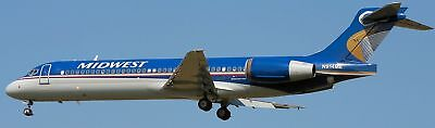 B-717 Midwest Airlines B717 Airplane Wood Model Free Shipping for sale  Shipping to Canada