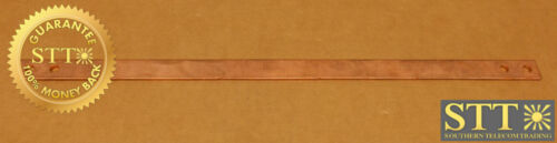 """Copper Bus Bar 3/4"""" X 16.5"""" 1/4"""" Holes With 3/4"""" Spacing Center To Center"""