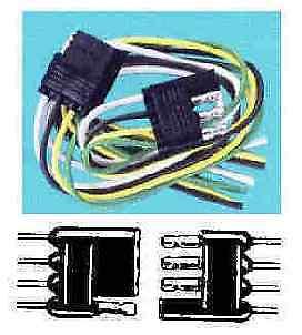 Sierra TC43674 Flat 4 Pole Trailer Connector Wire 4400