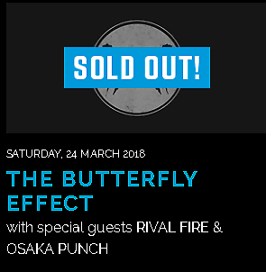 THE BUTTERFLY EFFECT - Pier Bandroom - 4x tickets- Face Value