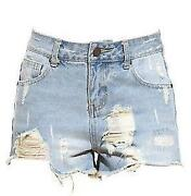 Denim Shorts Size 6-8