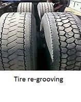 Truck Tire re-grooving