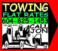 *TOWING*-FLAT RATES*6O4~825~I453 FRASER VALLEY*LOWER MAINLAND