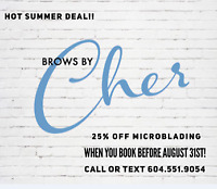 HOT SUMMER DEAL MICROBLADING 25% OFF!!