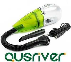 Green Lisa Portable Handheld In Car Vacuum Cleaner Wet & Dry 100W 400CM Cord LED