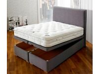 Brand New Top quality Super king Ottomen bed with individually pocket sprung zip and link mattresses