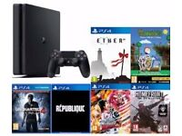PLAYSTATION PS4 SLIM 500GB WITH SEVEN GAMES BUNDLE NEW