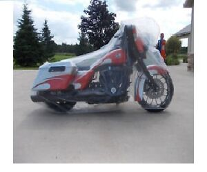 NEW! Motorcycle Clear Plastic Universal Disposable Cover Rain