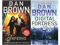 Dan Brown books - Inferno and Digital Fortress