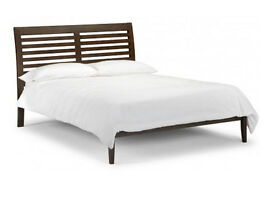 Dark Wood King Size Bed and Mattres