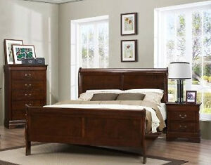 Sleigh bed with drawer chest & nite (white or cherry) NEW IN BOX