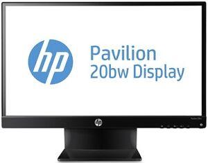 """MONITEUR 20"""", HP PAVILION 20BW, LED 1080p, DVI + VGA, COMME NEUF"""