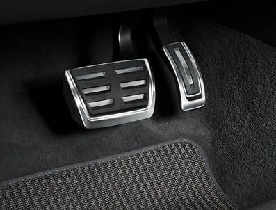 Genuine Audi A4 A5 Q5 Aluminium Pedal Covers - Automatic & RHD only.