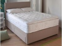 Double Myers Divan Set With Pocket Mattress Wrapped As New
