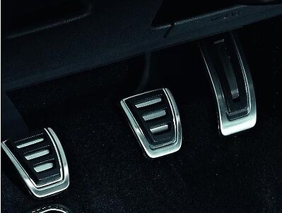 GENUINE VW GOLF MK7 PASSAT B8 STAINLESS STEEL SPORTS PEDAL CAP COVERS SET