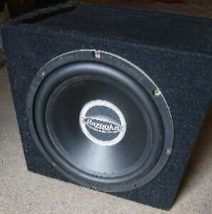 Car subwoofer and box