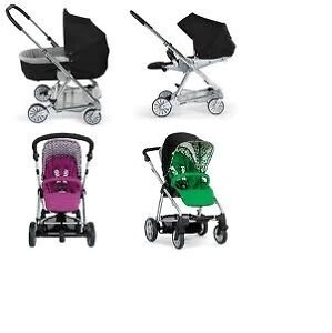 European Mamas & Papas Sola Stroller with car seat and adapter.