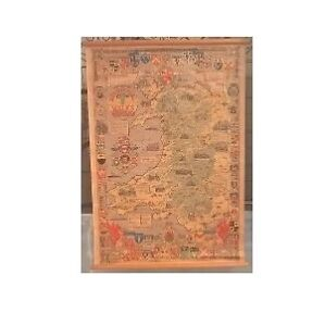 Arms of the Welsh Shire Scroll Historical Map of Wales &Monmouth