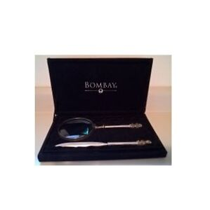 Bombay Large Magnifying Glass and Letter Opener Set