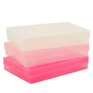 A4-CLEAR-PLASTIC-STORAGE-BOX-BOXES-PAPER-PICS-ARTS-CRAFTS-LEAFLETS-QUALITY-BEST