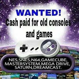OLD VIDEO CONSOLES AND GAMES WANTED SEGA / NINTENDO