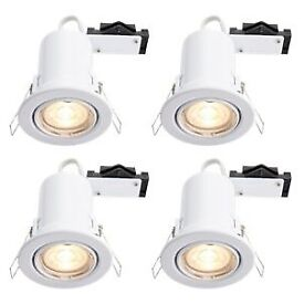8 x Wicks GU10 LED Downlights (Fire Rated) Boxed New