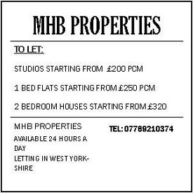 Flats, Studios, houses to let