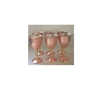 Vintage Copper Champagne Goblets / Glasses