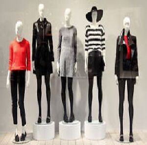 MANNEQUINS,DRESS FORMS, STORE FIXTURES, MIRRORS,COUNTER