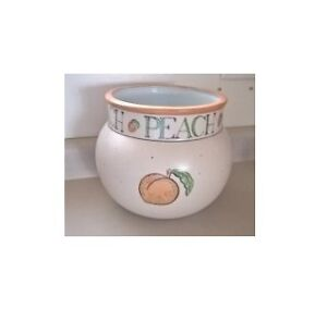 Porcelain Fish Bowl Planter with Peach Motif