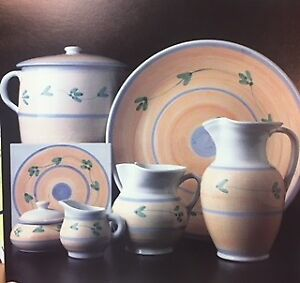 Brand New 16PIECE Hand Painted Ceramic dishes from Italy IN BOX!