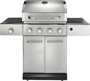 Chef Master bbq  stainless, side burner 2 propane tank for it 90