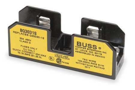 Eaton Bussmann Bg3031s Fuse Block,Industrial,30A,1 Pole